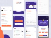 Quikcent - Loan App money trnasfer borrow lend finance credit loan app iphone branding mobile app