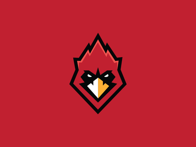 Cards Mascot Logo red identity flat mascot sports cardinal branding vector icon illustration design logo