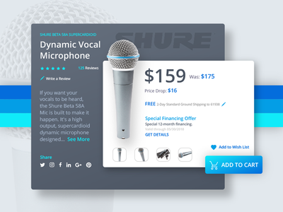 Buying a Microphone web vector ux ui mobile logo illustration icon flat design branding app