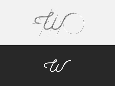 W Mark grid vector illustration lettering type icon logotype mark w design typography logo