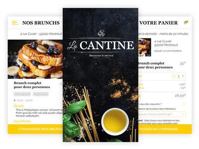 La Cantine - Food app & Branding french food webdesign design food mobile ui ux