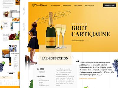 La Veuve Cliquot - Redesign  redesign design french alcohol champagne veuve cliquot webdesign alcohol ui ux