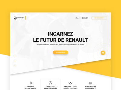 Renault - special event yellow event betatest website ui ux design webdesign concept renault cars
