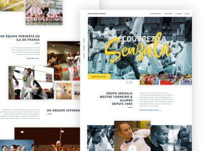 Capoeira Senzala - Landing page website ui design ux design sport landing page header capoeira