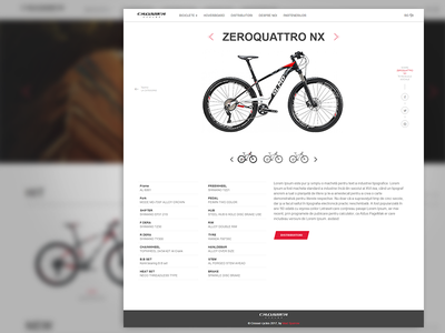 Bicycles catalog bike web template slider clean website product creative catalog bicycles