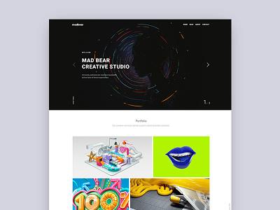 Mad Bear - Creative Portfolio Template showcase portfolio photography personal parallax modern minimal creative clean