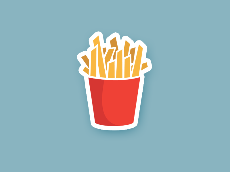 Fries Sticker