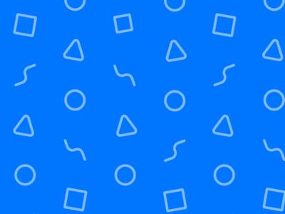 Pixelwise Portfolio Pattern fun portfolio shapes blue pattern