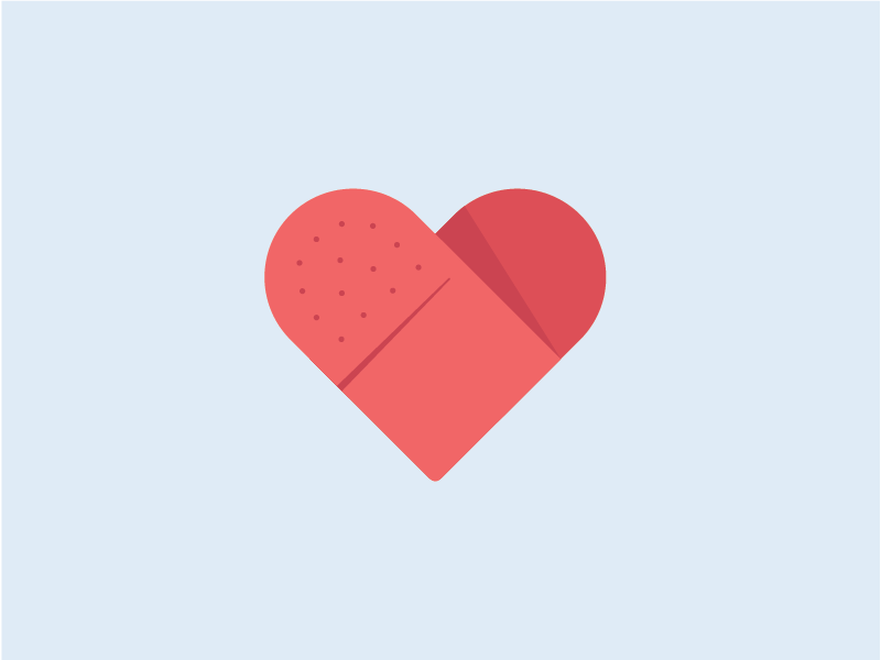 Bandaid Heart logo illustration bandaid heart