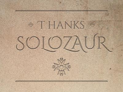 Thank you Solozaur