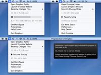 Dropbox progress bar concept