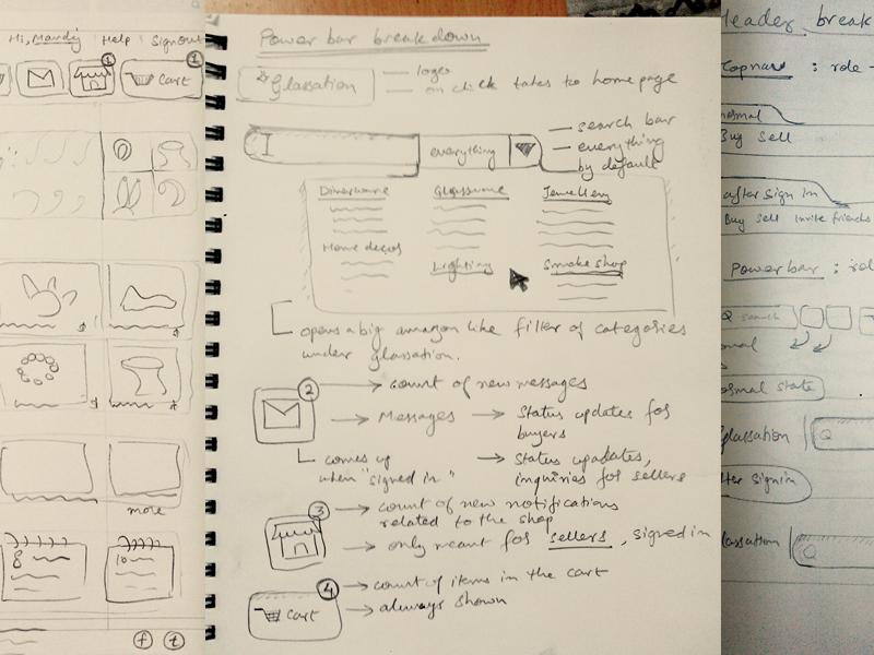 Wireframing & Research ui sketch webapp wireframe user stories