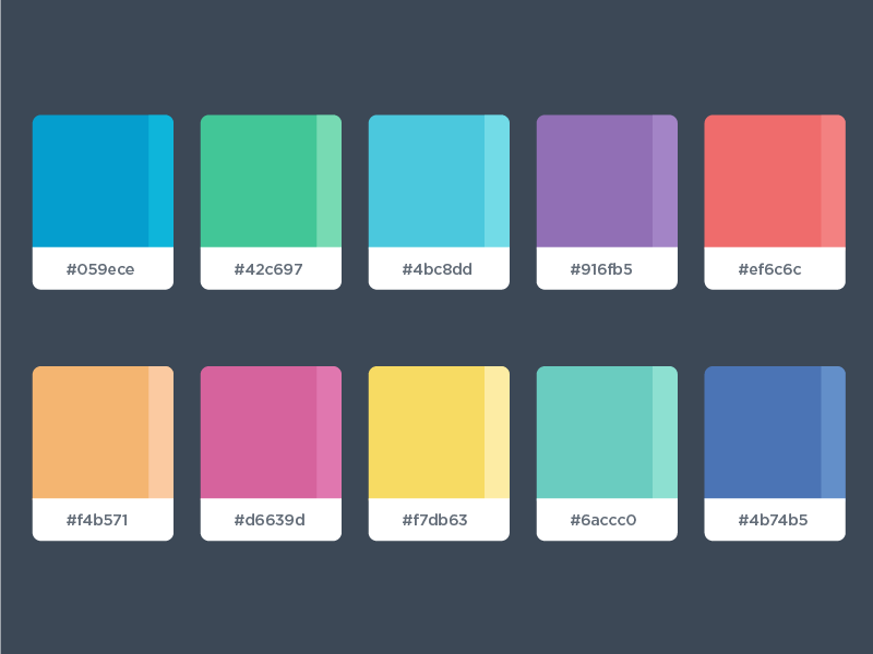 bcd8b73e64cb Color Palette by Malena Zook