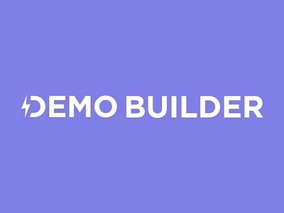 Demo Builder Logo tool brand identity type purple lightning lightning bolt bolt builder demo logo