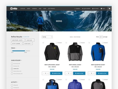 B2B Commerce Website Design - Category Page