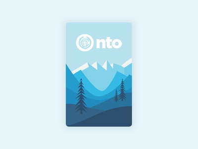 NTO Sticker illustration rounded corners blue outdoors nto mountains sticker