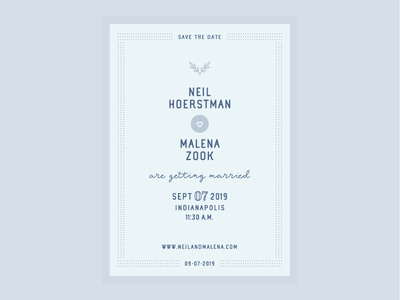 Neil & Malena - Wedding Save the Date