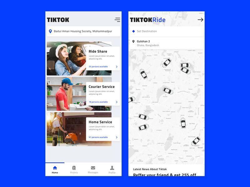 TikTok Mobile App UI by IAMFAYSALᵀᴹ ✔️ on Dribbble