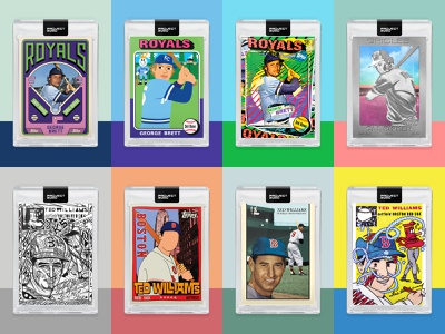 2020.cards cards ted williams george brett topps2020 project design art collection gallery baseballcards baseball toppsproject2020 topps 2020 project2020