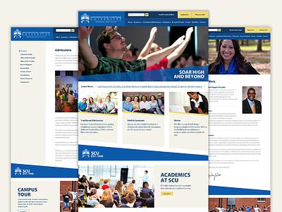 SWCU Website Redesign redesign edu university design page layout college swcu