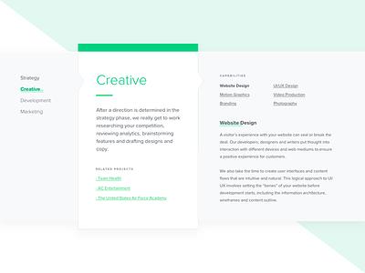 Creative Capabilities design knoxville ui web layout website creative pyxl