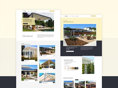 Alumashade Website product configurator ecommerce designer website design company page layout kit diy patio web  design alumashade logo web website mockup design layout
