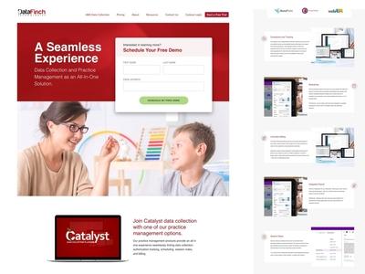 DataFinch Landing Page Design