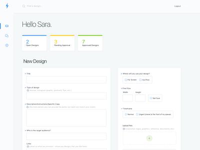 Customer Design Order Dashboard form order form place order client simple clean interface simple order uiux ui design user customer