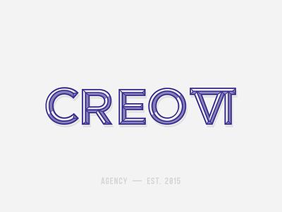 Creo Six Rebrand purple black numerals roman mark rebrand logo