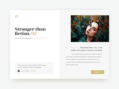 Online Book UI business clean minimal minimalism minimalistic portfolio smart