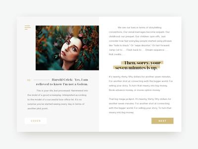 Online Book UI Concept