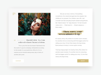 Online Book UI Concept smart portfolio minimalistic minimalism minimal clean business