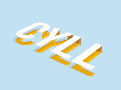 C Y L L 3d shadow type perspective color typography cyll