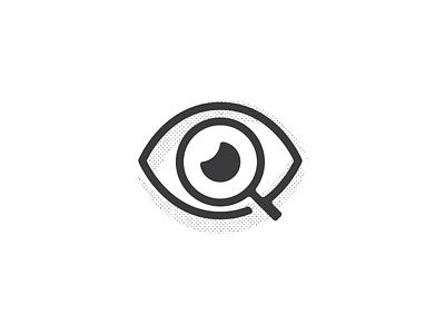 Eye search magnify glass looking logo mark eye