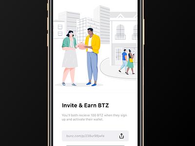 Invite Contacts bunz app clean design illustration ux ui minimalism minimal