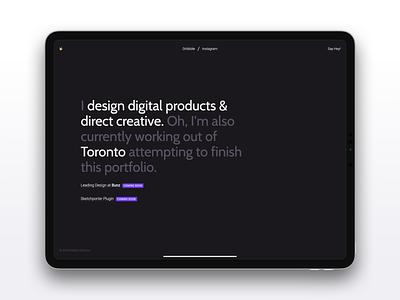 New Temporary Portfolio portfolio design clean minimal