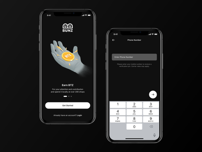 Exploration 003 bunz app ux ui clean minimalistic logo dark minimal