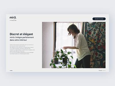 mirā ux landingpage project design web website graphisme ui