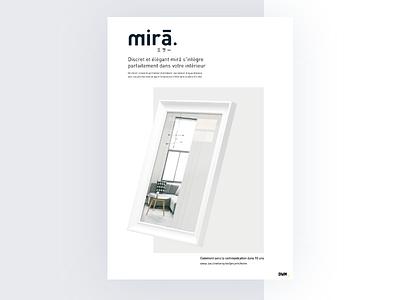 Poster mirā poster ux landingpage project design web website graphisme ui