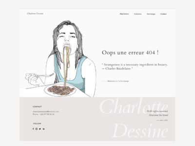 404 error quote dailyui landingpage graphisme uidesign ui web website illustratrice portfolio 404error 404