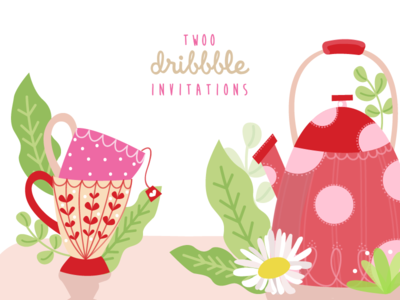 Come and take a cup of tea with the Dribbble Comunity ! ☕ teatime tea member invitation invite