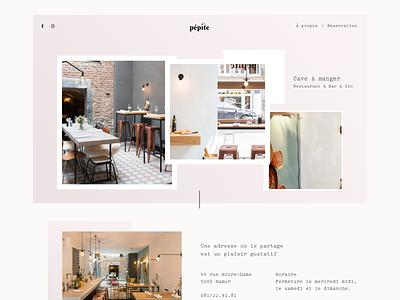 Pépite food dailyui landingpage graphisme uidesign ui web website