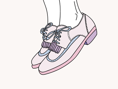 Derbie Shoe graphisme pink women illustration derbie shoe