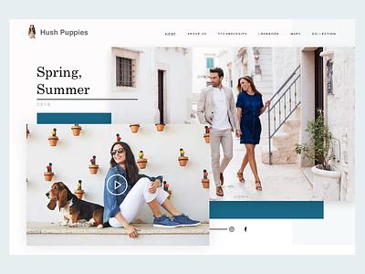 Hushpuppies e-commerce dog shoes dailyui landingpage graphisme uidesign ui web website