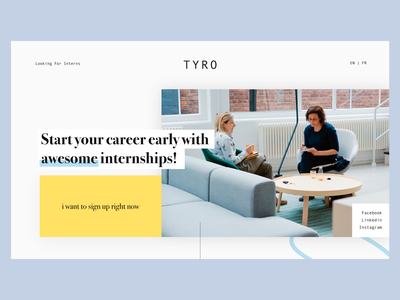 Redisign Tyro 1/3 internship redisign dailyui landingpage graphisme uidesign ui web website