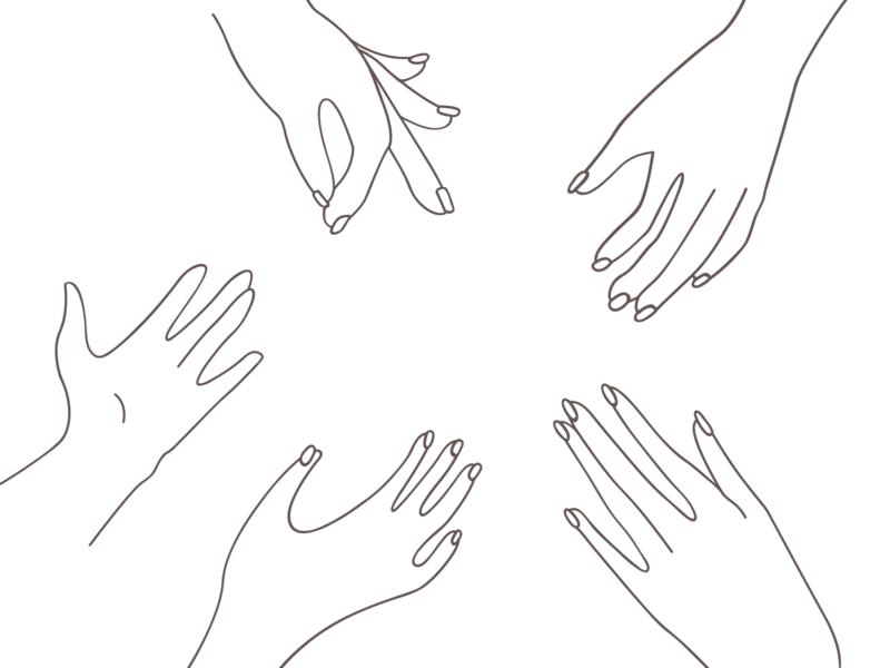 New Players ! ✍🏻 design traits empathy together hands hand illustration graphisme