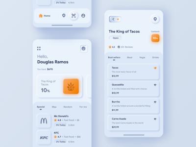 Neumorphism Cashback App (white version)