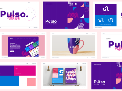 Pulso Design System Visual Identity Proposal presentation visual identity web colors design typography vector gradient graphic design illustration logo branding