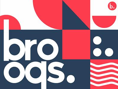 Brooqs Logo pattern idenity colors geometric logo poke branding restaurant food eat bowl