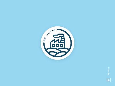 AP Nutri farm natural fitness factory art branding logo